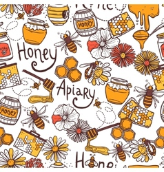 Honey Seamless Pattern vector image vector image