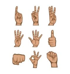 Human hand design vector