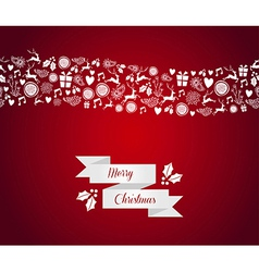 Merry Christmas seamless pattern border vector image vector image