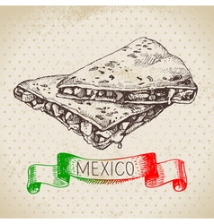 Mexican traditional food background with vector