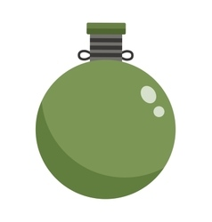 Military flask vector