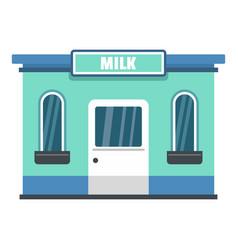 milk shop icon flat style vector image