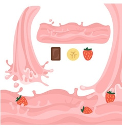 Milk splash design elements vector image vector image