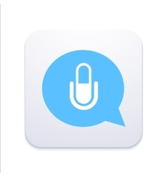 Modern microphone icon in blue bubble vector