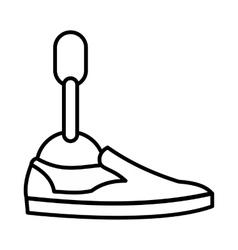 Prosthetic leg icon outline style vector