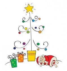 sleeping santa vector image vector image