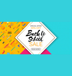 Stylish social media and web banner sale template vector