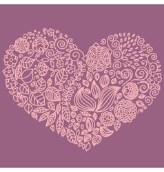 Tattoo floral doodle elements set vector