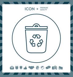 Trash can recycle bin symbol icon vector