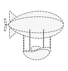 Zeppelin transport icon image vector