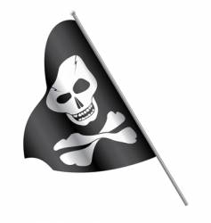 Pirates flag skull and cross-bones vector