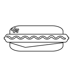 delicious hot dog isolated icon vector image
