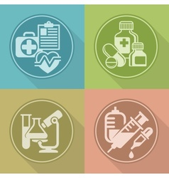Set of medicines symbols on vector