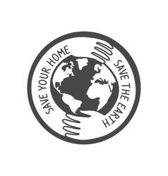 save the world logo vector image