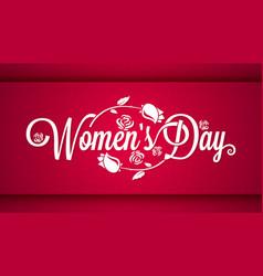 Women day vintage lettering banner background vector