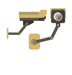 day and night wireless surveillance camera vector image