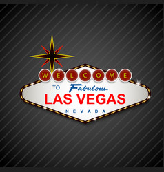 Las vegas casino sign background vector