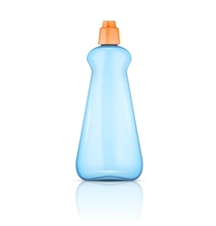 Blue plastic bottle with orange cap vector