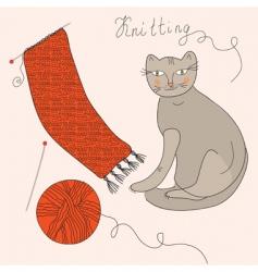 knitting set vector image