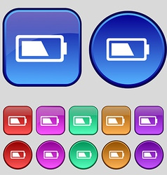 Battery half level icon sign a set of twelve vector