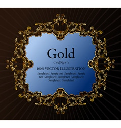 vintage royal retro frame ornament gold vector
