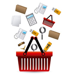 Office supplies design over white background vector