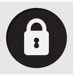 Information icon - closed padlock vector