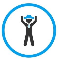 Agent champion circled icon vector