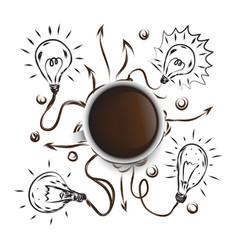 art coffee business drawn icon symbol idea vector image
