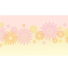 Background of flower spring theme vector