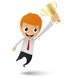Businessman victory vector image vector image