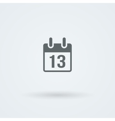 calendar icon Simple flat vector image