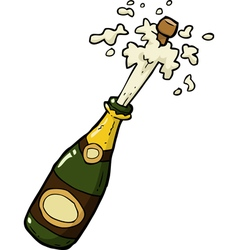 champagne bottle shot vector image