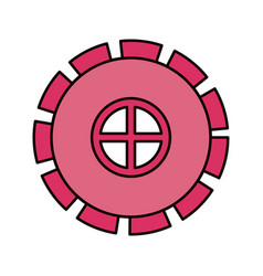 Color sketch silhouette gear wheel pinion icon vector