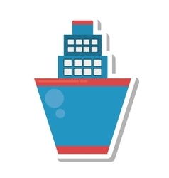 Cruise ship transport isolated icon vector