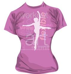 Dance t-shirt vector