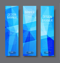 design vertical banners with abstract blue vector image vector image