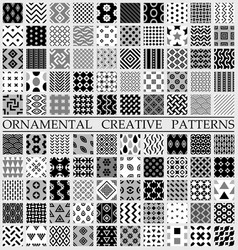Digital black and white geometric vector