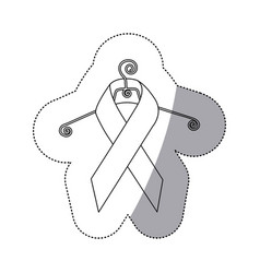 Figure breast cancer ribbon cancer in the cloth vector