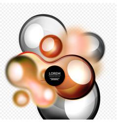 glass bubbles on grey modern techno liquid design vector image