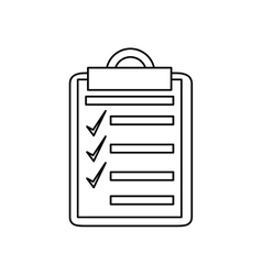 Isolated checklist with checkmark design vector