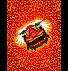 Lion mask background vector image vector image