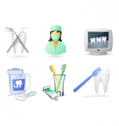 medical icons set dentistry vector image vector image
