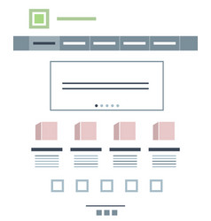 monitor and place for information brochure vector image
