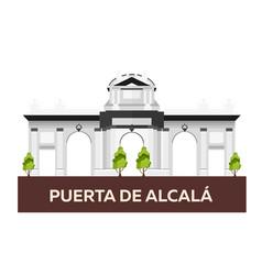 Puerta de alcala travel to spain vector
