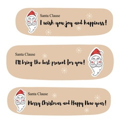 Santa clause messages vector