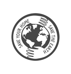 Save the world logo vector