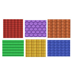Seamless roof tiles vector
