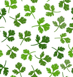 seamless texture of parsley vector image vector image