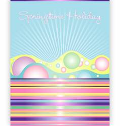 springtime holiday vector image